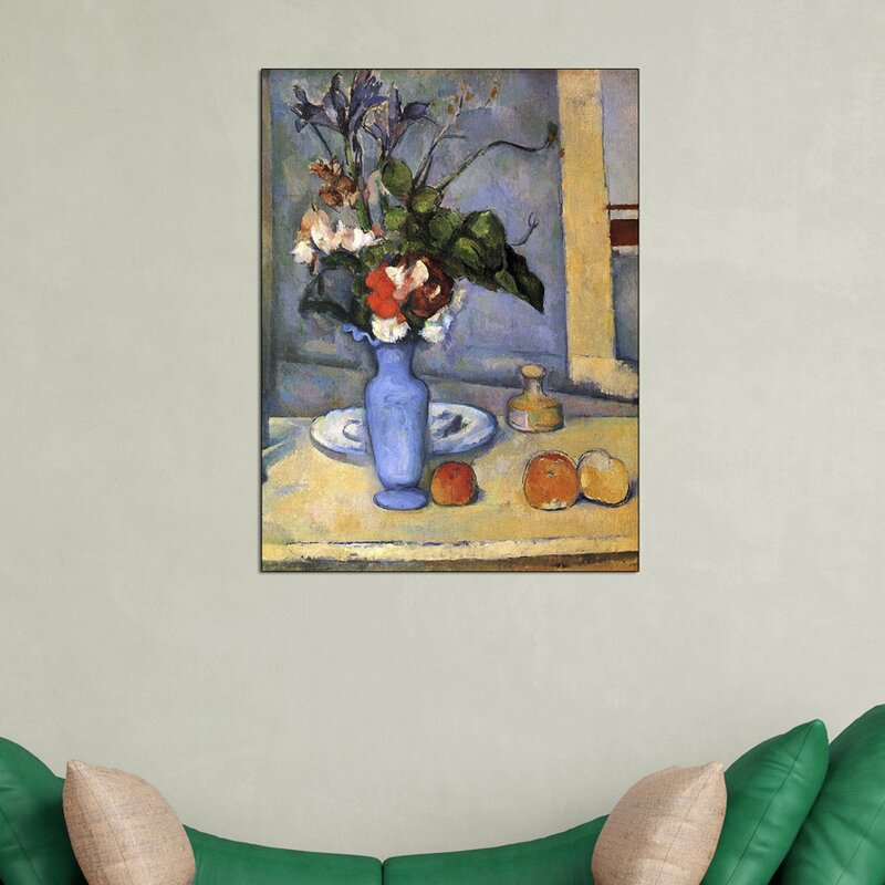 Art Plaza Still Life With Blue Vase By Paul Cezanne Painting Print