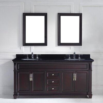"kbc abbey 72"" double bathroom vanity set & reviews | wayfair"