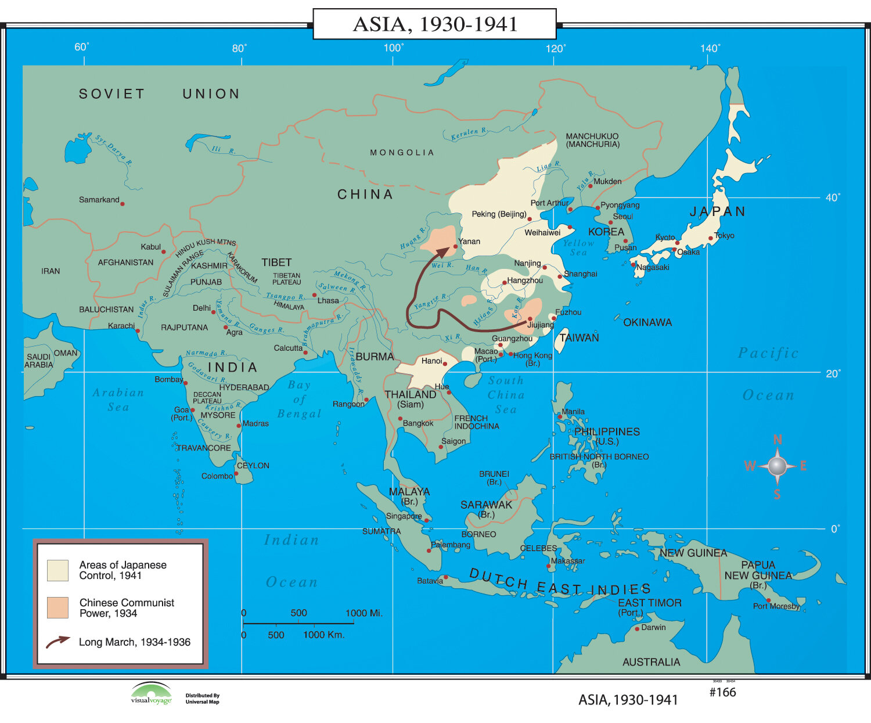Universal map world history wall maps asia 1930 1941 wayfair gumiabroncs Choice Image