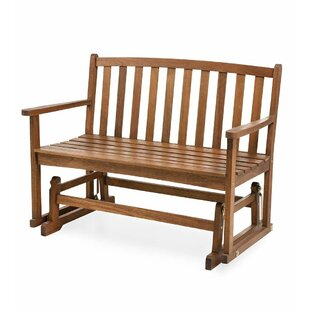 outside glider chair porch swing lancaster glider bench patio rocking chairs gliders youll love wayfair
