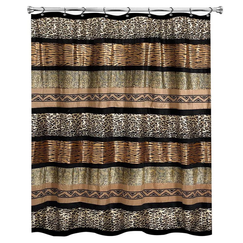 Bloomsbury Market Newburn Animal Print Shower Curtain