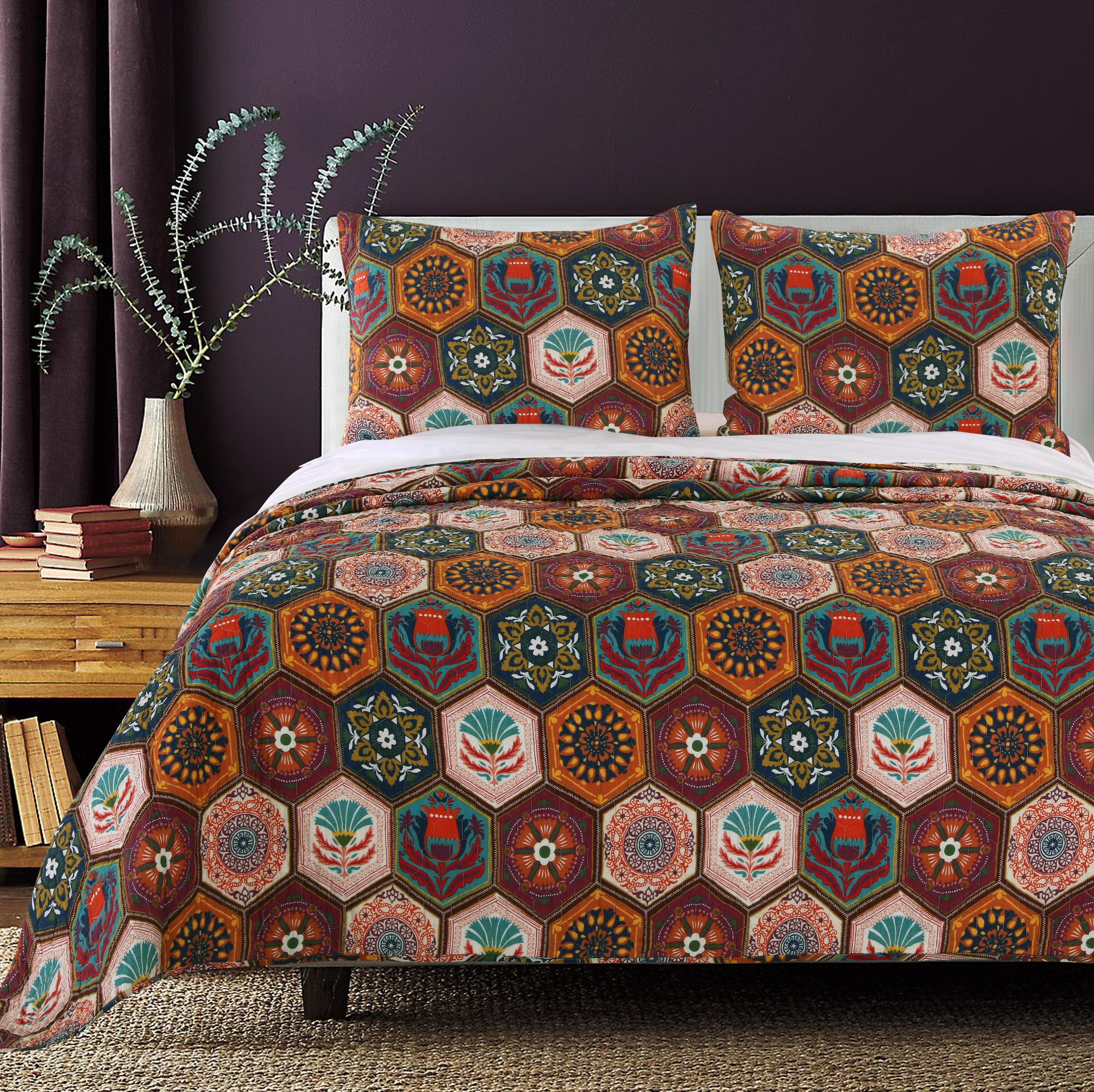Greenland Home Fashions Annika Cotton Reversible Quilt Set & Reviews ...