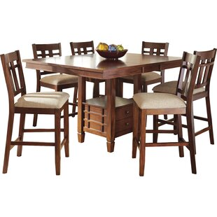 Hannon 7 Piece Counter Height Dining Set