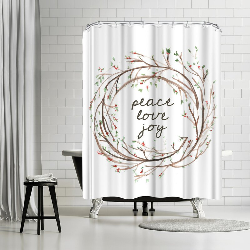 East Urban Home Jetty Printables Peace Love Joy Wreath Shower ...