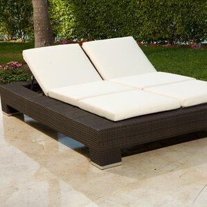 Double Patio Chaise Lounge Chairs Youll Love