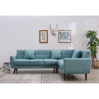 Dark Blue Denim Sectional Sofa Wayfair