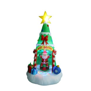 christmas tree with santa claus christmas decoration