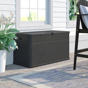 Rattan Effect Garden 420l Plastic Storage Box