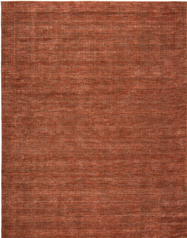 Chelsie Allspice Hand Woven Rust Area Rug
