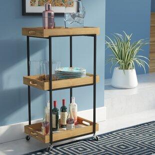 Lea Modern 3-Tier Bar Cart