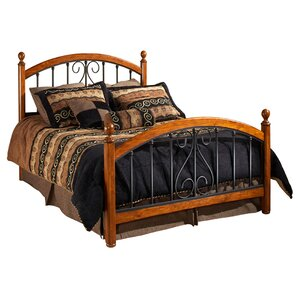 burton way panel bed - Wood And Metal Bed Frame