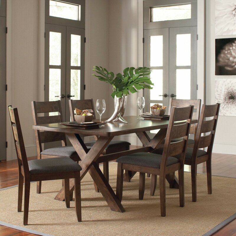 Ventura 7 Piece Dark Brown Dining Set