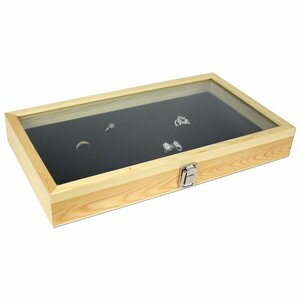 Tempered Glass/Wood Ring Display Case