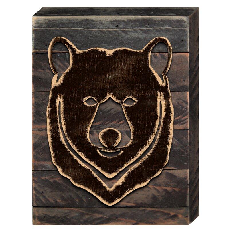 Winston Porter Bear Face Silhouette Wall Décor   Wayfair