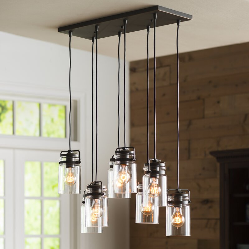Kitchen Island Lighting High Ceilings: Three Posts Bloomingdale 8-Light Pendant & Reviews