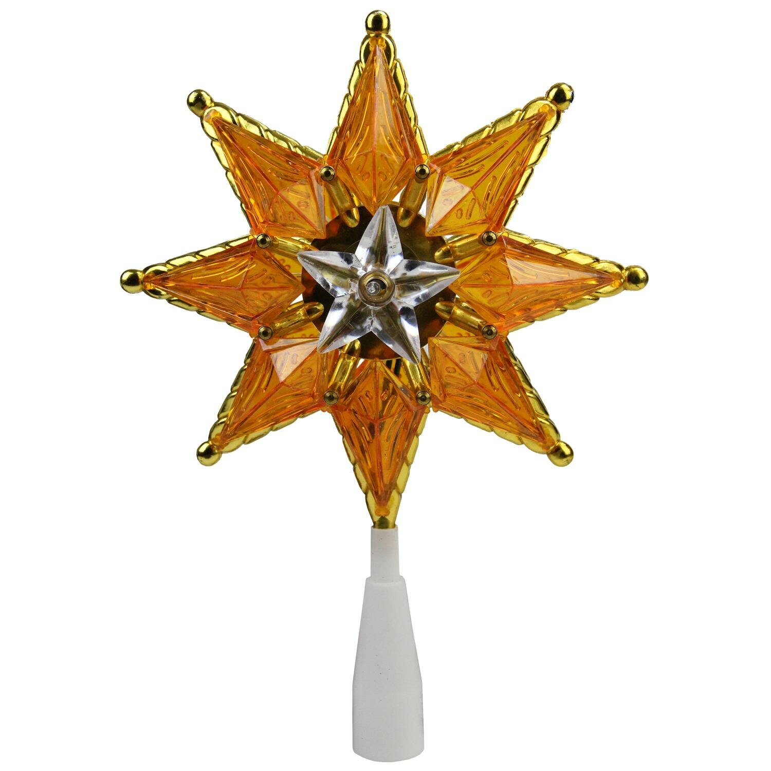 Mosaic 8 Point Star Christmas Tree Topper