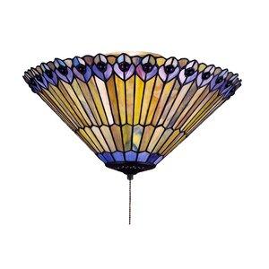 Tiffany Jeweled Peacock Flushmount Light