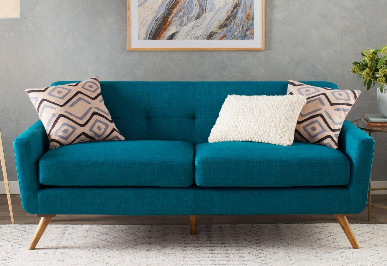 langley street fresco tufted sofa  reviews  wayfair - fresco tufted sofa
