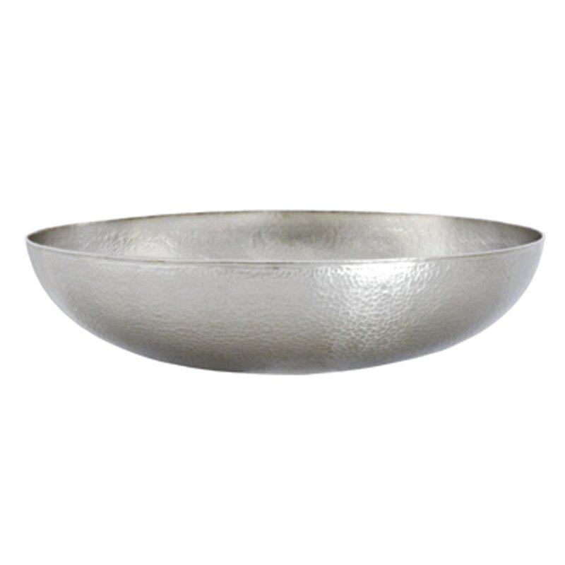 Metallic Vessel Sink : Native trails maestro metal circular vessel bathroom sink