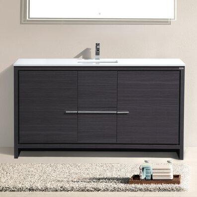 """Bathroom Vanities Miami Fl fresca trieste 60"""" allier single modern sink bathroom vanity set"""