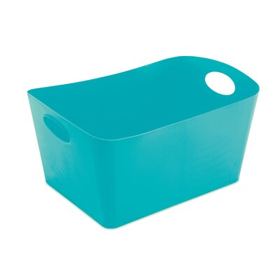 Turn on the Brights Rectangular Plastic Storage Bin Color: Aqua, Size: 5.9 H x 11.7 W x 8 D
