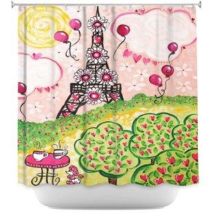 Paris In Shower Curtain