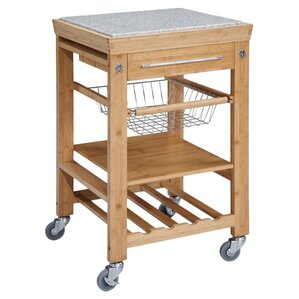 Ilana Kitchen Cart with Granite Top by..
