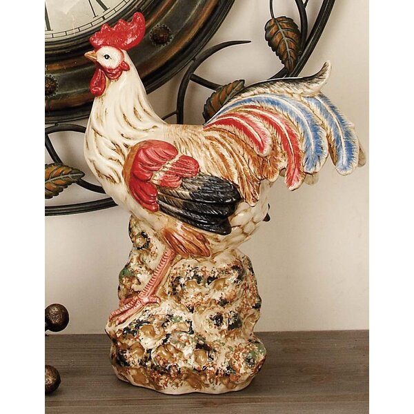 Cole & Grey Ceramic Rooster Sculpture