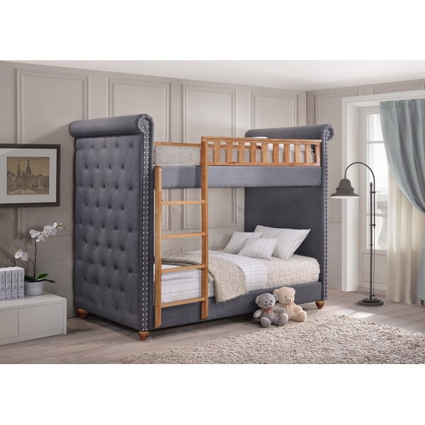 Isaiah Single Upholstered Bunk Bed by Harriet Bee