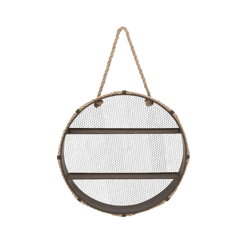 Cole & Grey Metal Rope Accent Shelf & Reviews | Wayfair