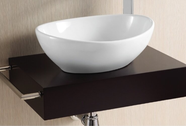Ceramica II Ceramic Oval Vessel Bathroom Sink