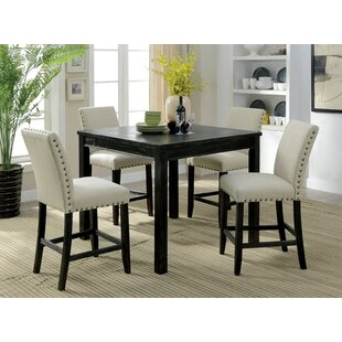 Delvale 5 Piece Counter Height Extendable Dining Set