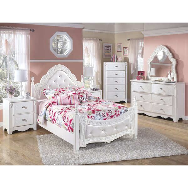 Interior Girls Bed Furniture viv rae emma four poster configurable bedroom set reviews wayfair