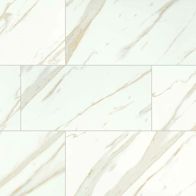 Msi Calacatta 12 Quot X 24 Quot Porcelain Field Tile In White