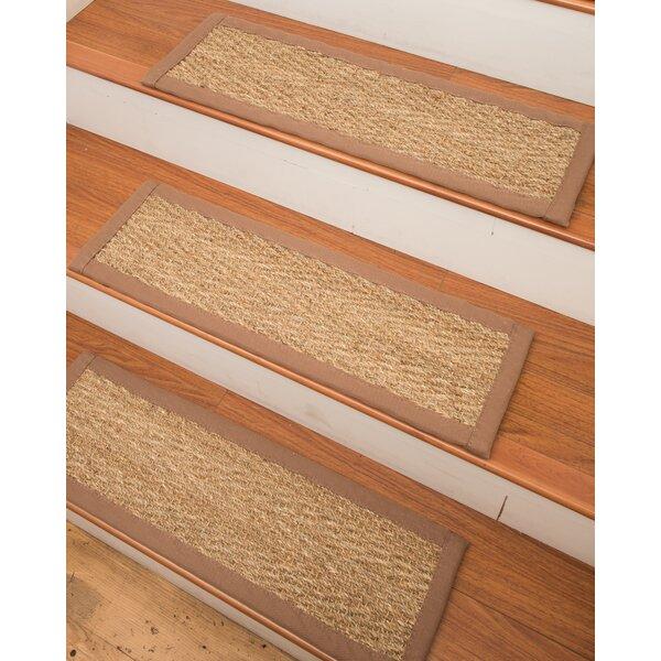 Natural Area Rugs Beach Seagrass Carpet Beige Stair Tread U0026 Reviews |  Wayfair