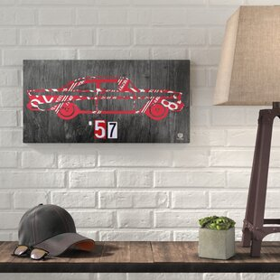 u002757 Chevy License Plate Artu0027 Graphic Art on Wrapped Canvas & License Plate Wall Art | Wayfair