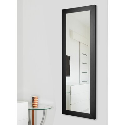 Brayden Studio Satin Full Length Body Mirror Size: 60 H x 21 W x 0.75 D, Finish: Black