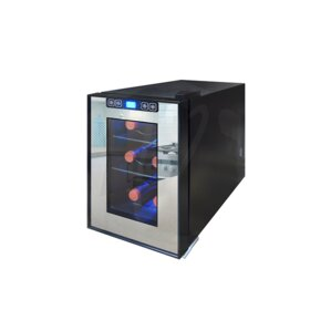 6 Bottle Single Zone Freestanding Wine Cooler by..