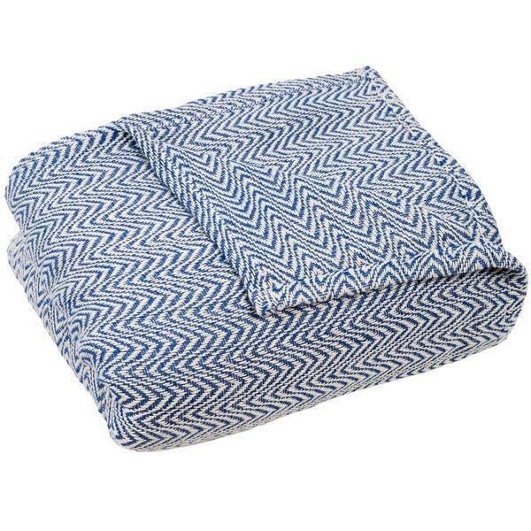 Blankets Throws Birch Lane Delectable Navy Cotton Throw Blanket