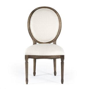 Medallion Side Chair in Linen - Natural