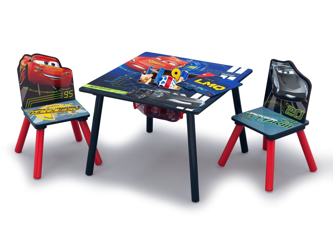 Disney/Pixar Cars Kids 3 Piece Square Table And Chair Set