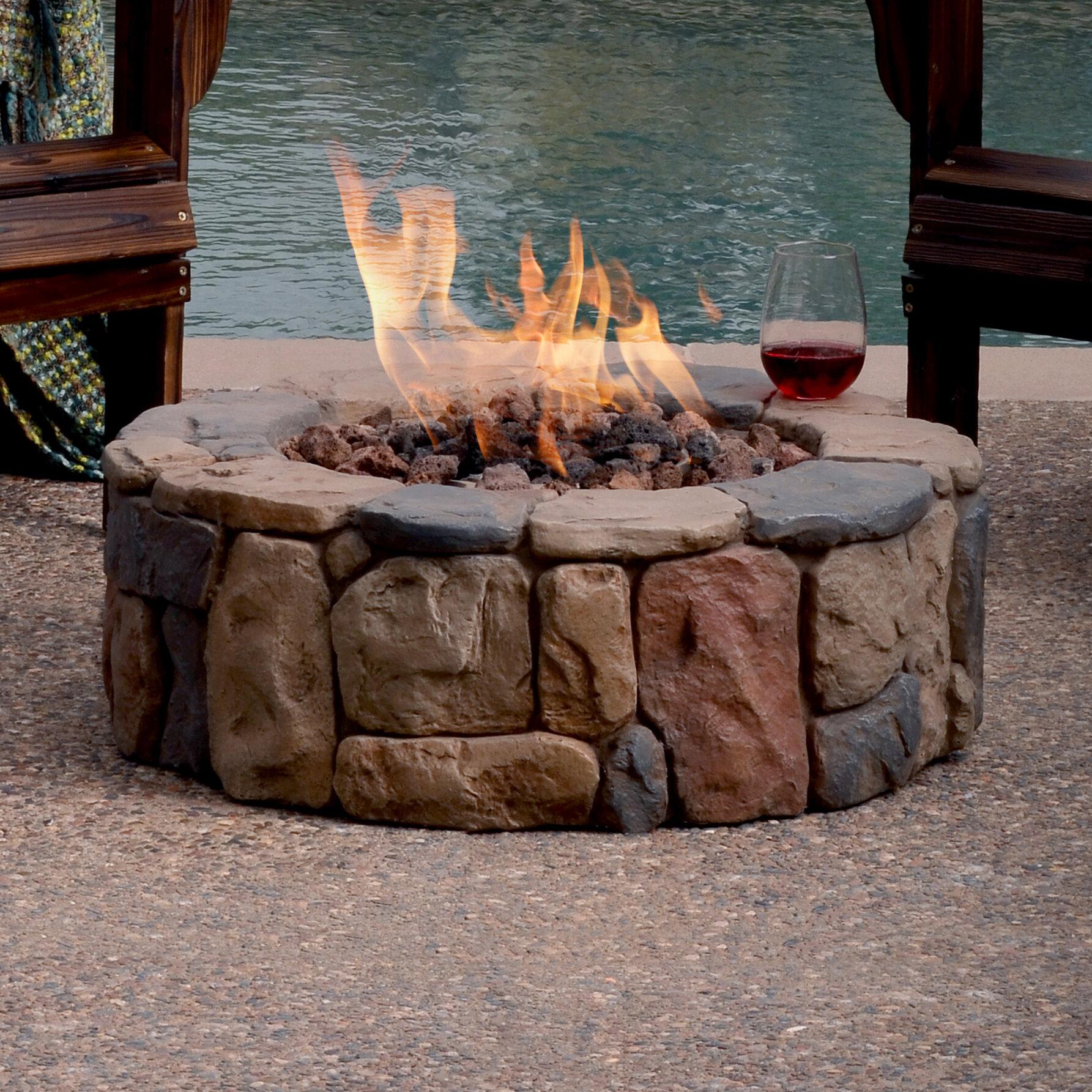 Bond petra stone propane gas fire pit wayfair
