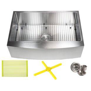 Ariel 33 L X 21 W Farmhouse A Kitchen Sink With Bonus Accessories