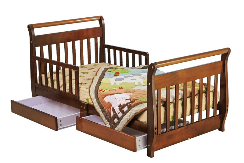 Dream On Me Toddler Sleigh Bed With Storage Amp Reviews