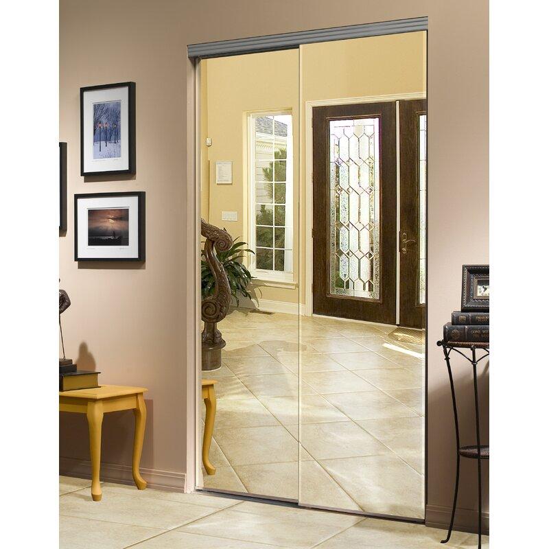 Mirrored Primed Sliding Closet Doors