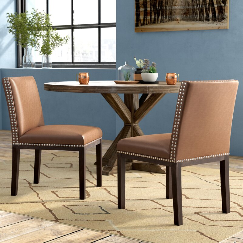 Bonded Leather Upholstered Dining Chair