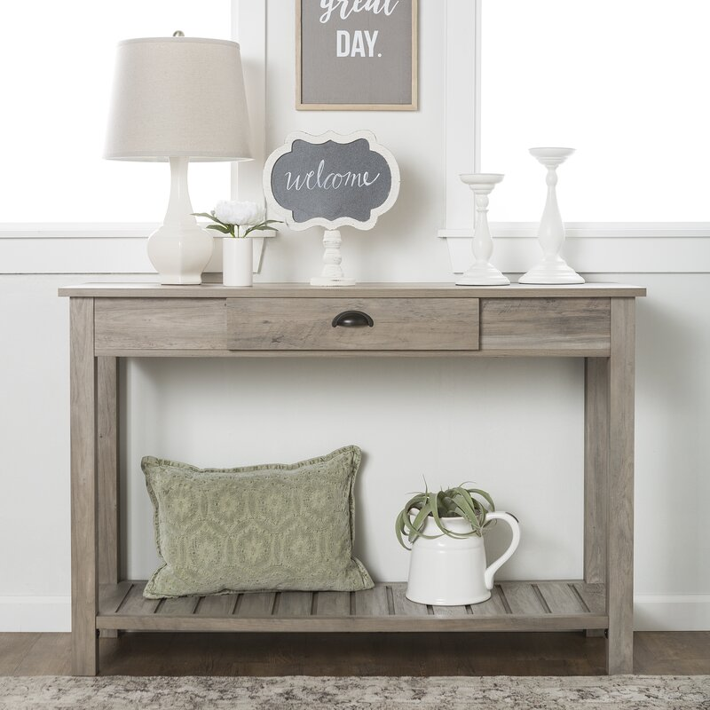 15 Entrance Hall Table Styles To Marvel At: Loon Peak Burford Entry Console Table & Reviews