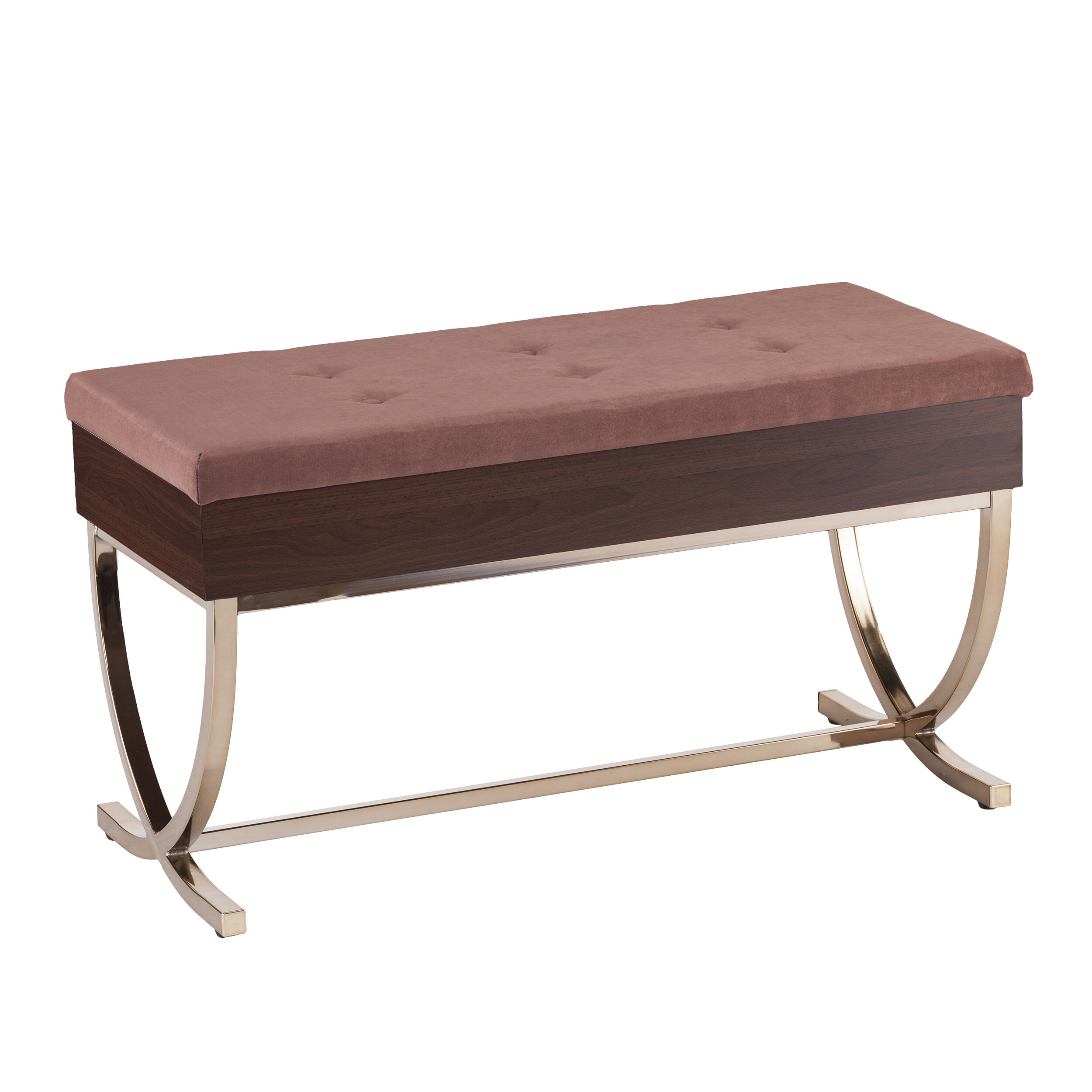 House of Hampton Everdeen Tufted Lift Top Storage Bench & Reviews ...
