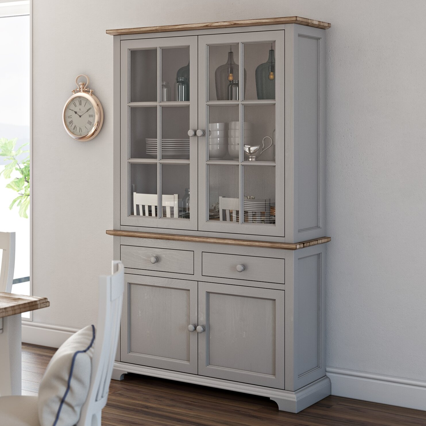 Display Kitchen Cabinets For Sale: Breakwater Bay Chatham Display Cabinet & Reviews