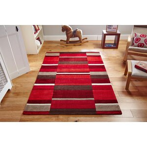 Nellie Hand-Woven Wool Red Rug